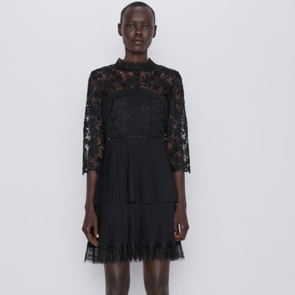 Zara Dresses & Skirts - NWT, ZARA Contrast Lace Dress